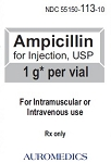 Ampicillin 1gm 10mL Vial
