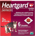 Heartgard Chew For Cats Red 0-5 lbs 6 Doses