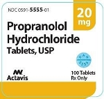 Propranolol HCl Tabs 20mg #100
