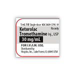 Ketorolac Tromethamine Injection 30mg/1mL 25/pk