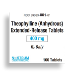 Theophylline (Anhydrous) Tabs ER 400mg #100