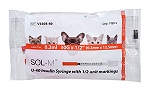 SOL-VET U100 Insulin Syringe 0.3mL 29ga 100/box