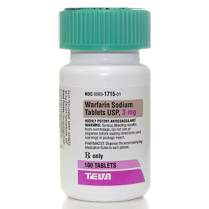 Warfarin Sodium 3mg #100