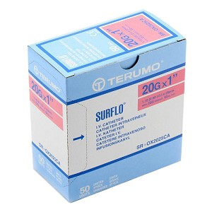 Surflo IV Cath 20 x 1 #50/box