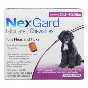 NexGard™ Chewables 3 Doses Purple 24.1-60 lbs