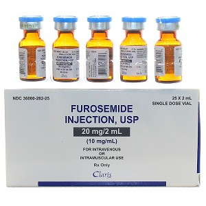 Furosemide (Lasix®) 10mg/ml 10ml Single Dose Vial - 25/Box