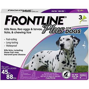 Frontline® Plus For Dogs Purple 45-88 lbs 3 Doses