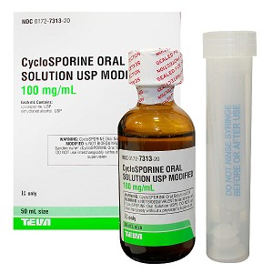 Cyclosporine Solution 100mg/mL 50mL