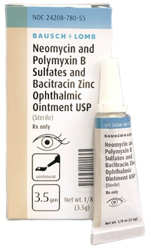 Neomycin Sulfate Polymyxin B Sulfate & Bacitracin Zinc Ophthalmic Ointment 3.5 g