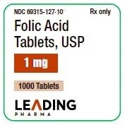 Folic Acid Tabs 1mg #1000