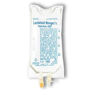 Lactated Ringers and Dextrose IV 250mL