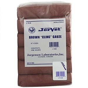 "Brown Cling Gauze 6"" X 5 yards 12/pack"