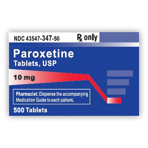 Paroxetine HCl Tabs 10mg #500