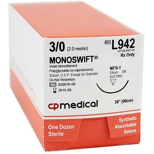 "Monoswift Suture 3/0 NFS-1 36"" 12/box"