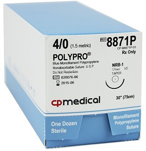 "Polypro Suture 4/0 NRB-1 30"" 12/box"