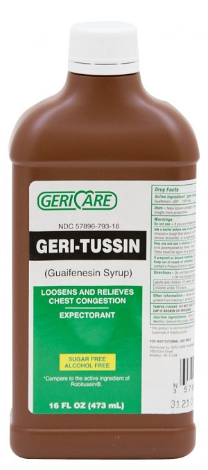 Geri- Tussin Liquid Guaifenesin 100mg 16oz
