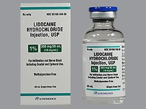 Lidocaine Hydrochloride Injection 1% 300mg/30mL vial