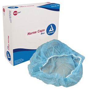 Nurse Caps O.R. 24'' (blue) 100/bx
