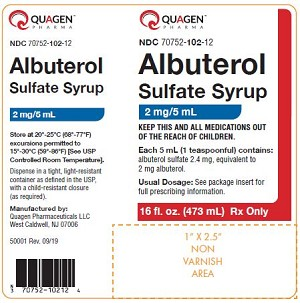 Albuterol Sulfate Syrup 2mg/5mL 16oz