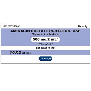 Amikacin 250mg/mL 2mL 10/pack