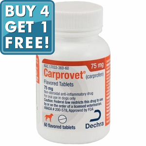 Carprovet (Carprofen) Flavored Tabs 75mg #60